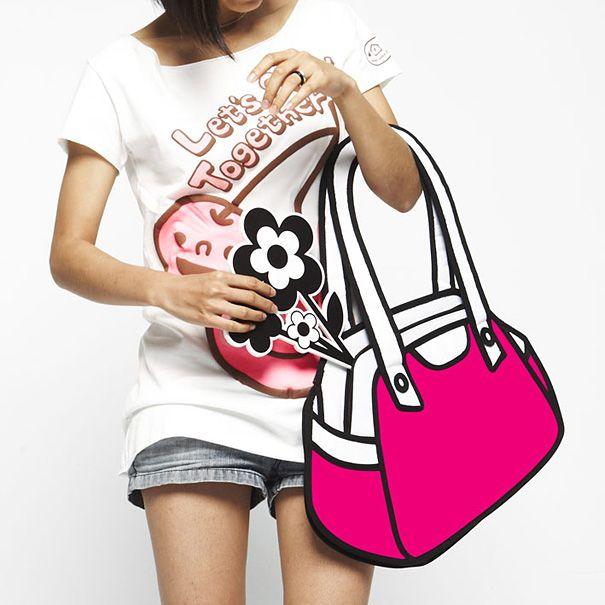 2d Cartoon Like Handbags