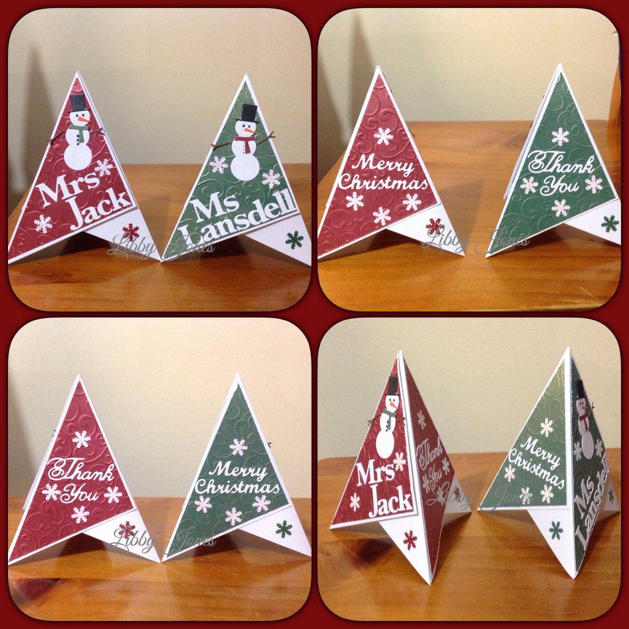 Teacher Merry Christmas Thank You Teepee Card Libjj Christmas Cards Handmade Xmas Cards Christmas Cards
