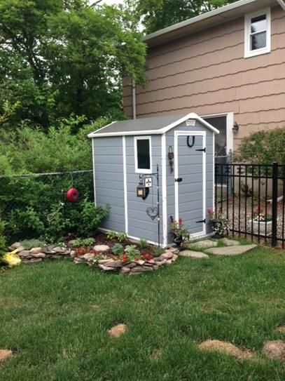 keter manor 4 ft x 6 ft outdoor storage shed 212917 at the home