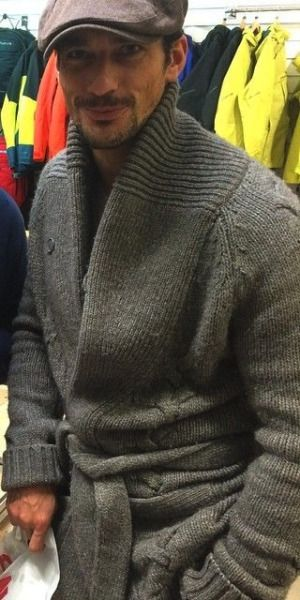 david gandy-that look in his eyes with new's boy cap and sweater hot!!!