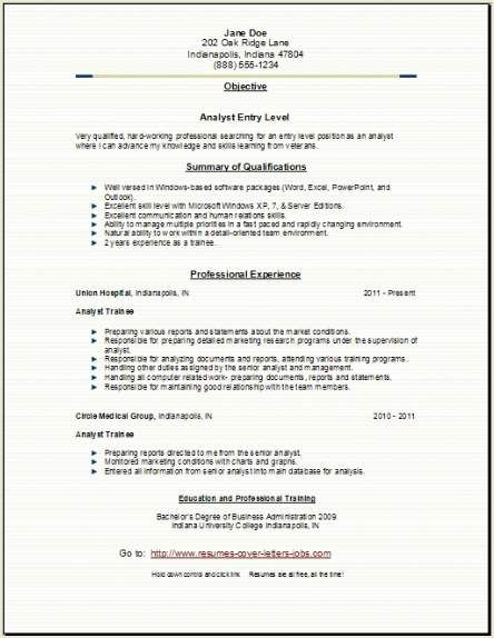 Business Analyst Resume Indianapolis