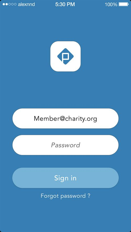 sign in app
