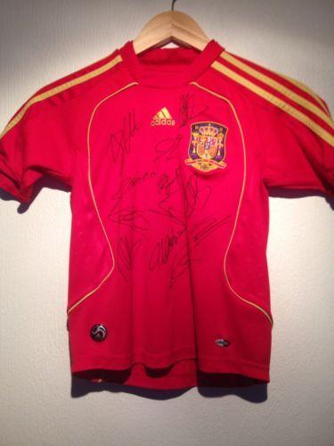 Spain International Team Shirt Signed By 08 Euro Winning Squad COA