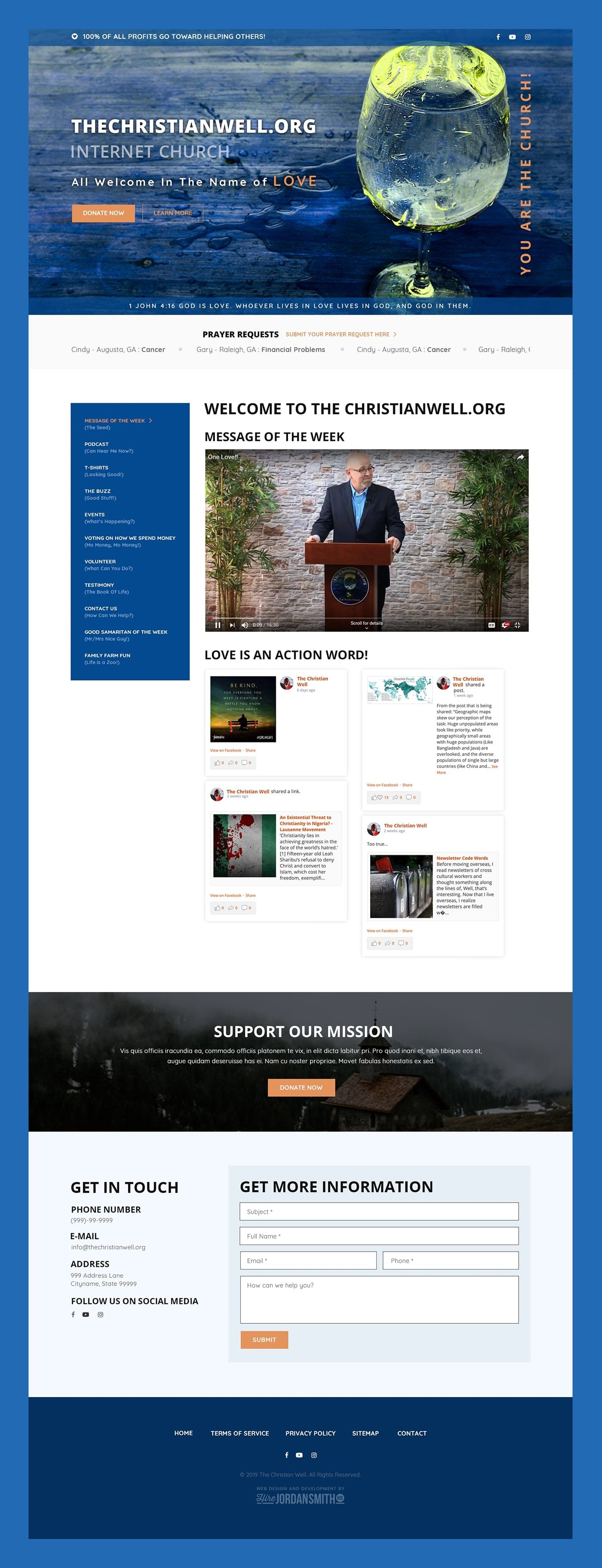 The Christian Well Web Design By Hire Jordan Smith Web Design Web Design Projects Web Development Design