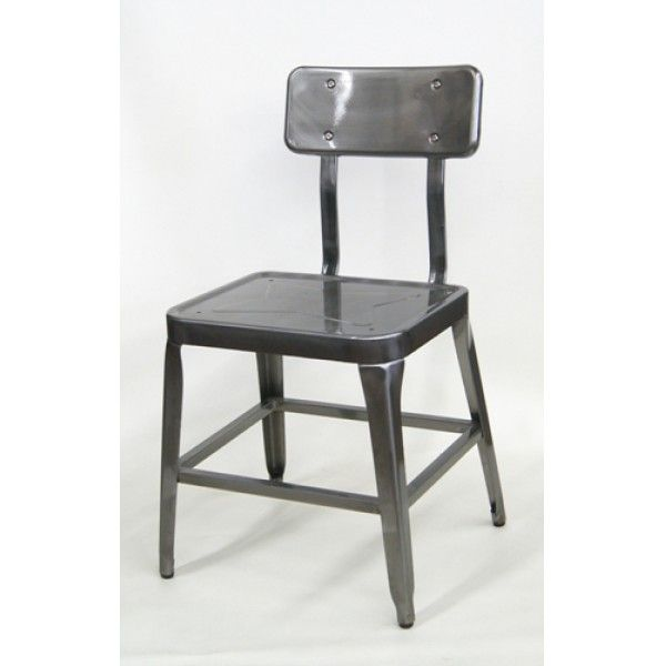 Miraculous Franklin Industrial Side Chair In Stock Restaurant Squirreltailoven Fun Painted Chair Ideas Images Squirreltailovenorg