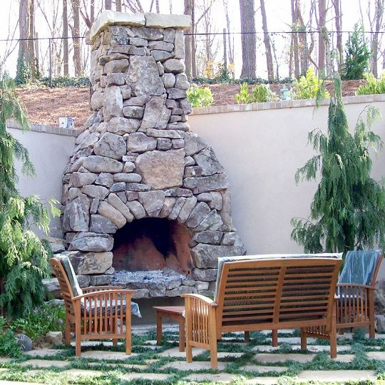 Beautiful Rustic Outdoor Fireplace Design Ideas 687: FireRock Outdoor Fireplace Kit