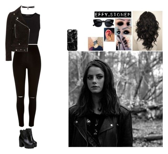 """Effy Stonem"" by dreamity ❤ liked on Polyvore featuring River Island, Effy Jewelry, MANGO, Acne Studios, Casetify and Fallon"