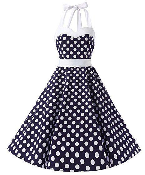 Dresstells Neckholder Rockabilly 50er Vintage Retro Kleid Petticoat Faltenrock Retro Kleider Style Hipster Vintage 90s 80s 70s 60s 50s Rockabilly Outfits Pin Up Cocktails Maxis: http://amzn.to/2sK4aQ9