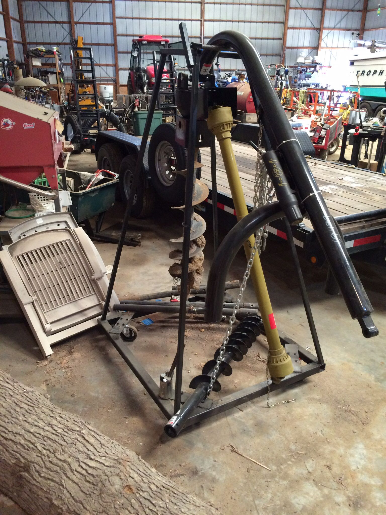 Garage Gator Motorized Electric Hoist Ggr 125 Homemade Post Hole Auger Stand Allows Me To Role The Unit Up To