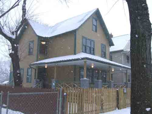 A Christmas Story House with snow A Christmas Story Pinterest