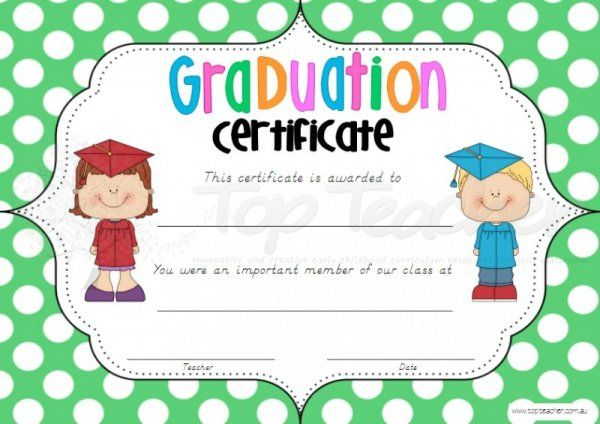 Graduation Certificates  Kindergarten PrePrimary Prep And