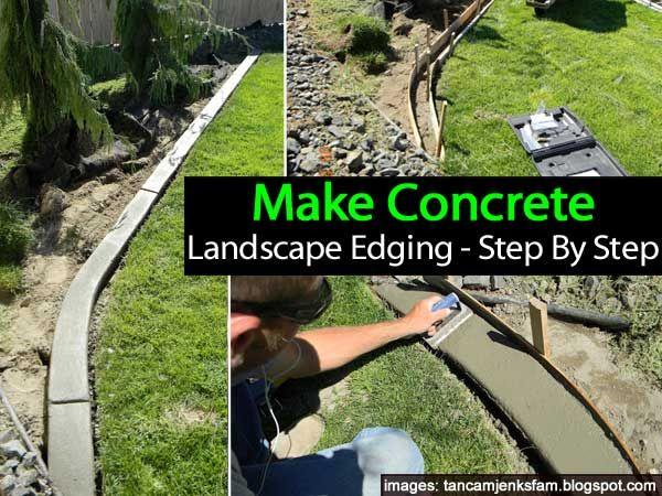 diy make concrete landscape edging