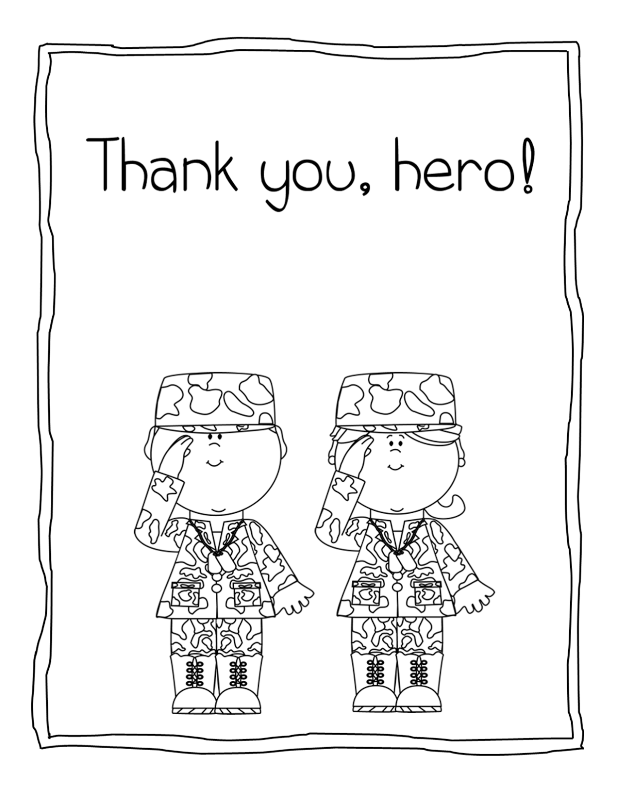 Preschool Veterans Day Worksheet