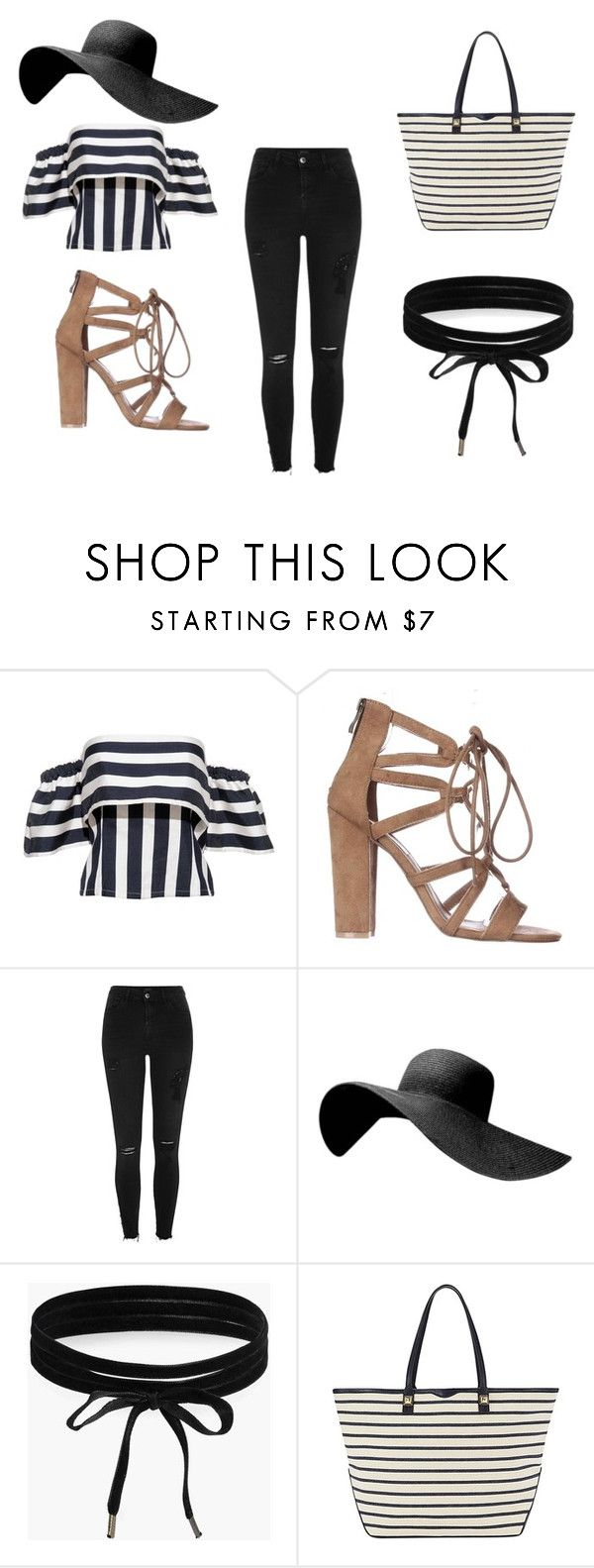 """""""Striped out"""" by taylorgarcia-iii ❤ liked on Polyvore featuring River Island, Boohoo and Rebecca Minkoff"""