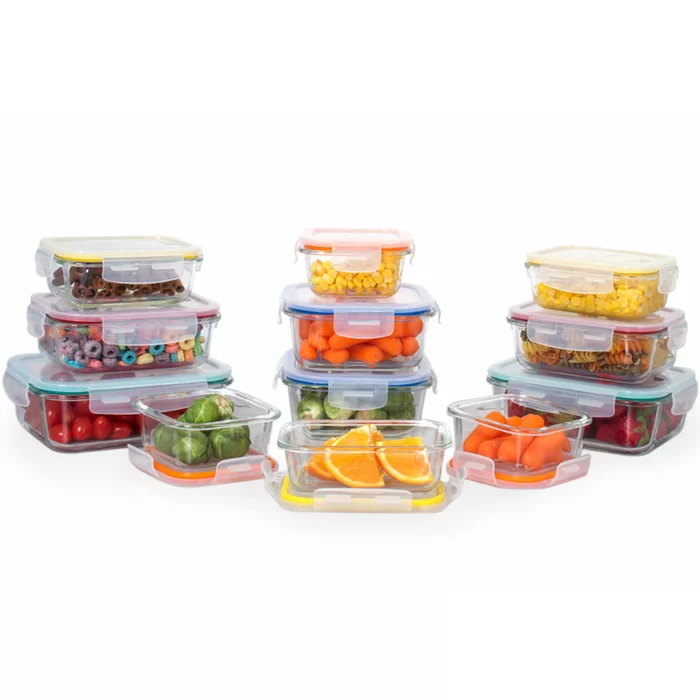 Eatman Glass Meal Prep 12 Container Food Storage Set Food Storage Set Glass Storage Containers Food Storage Container Set
