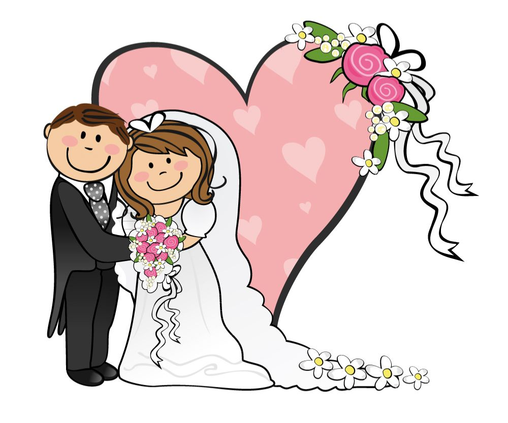 hight resolution of cartoon funny bride and groom clipart best