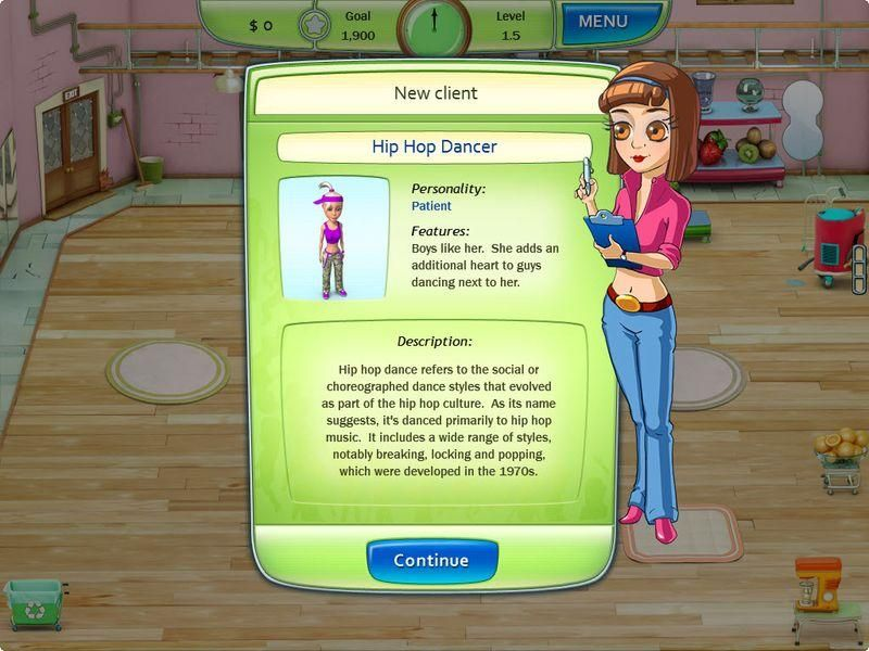 Invite your friends and customers to practice dancing. They are eager to pay you generously if you are eager to teach them how to dance. - See more at: http://playfreegames24.com/game/dancing-craze/#sthash.e4Uu46W9.dpuf