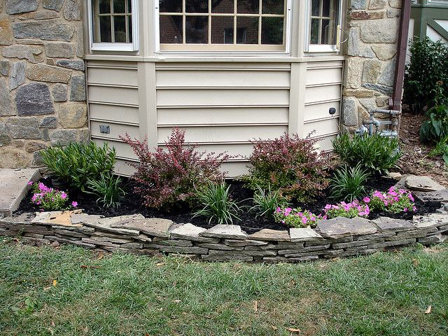 landscaping around bay window by fiverimjag via flickr ForFront Window Landscaping Ideas