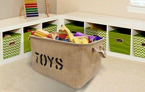 Toy Storage Ideas] Jute TOY Storage Bin - Large Size Storage Basket ...