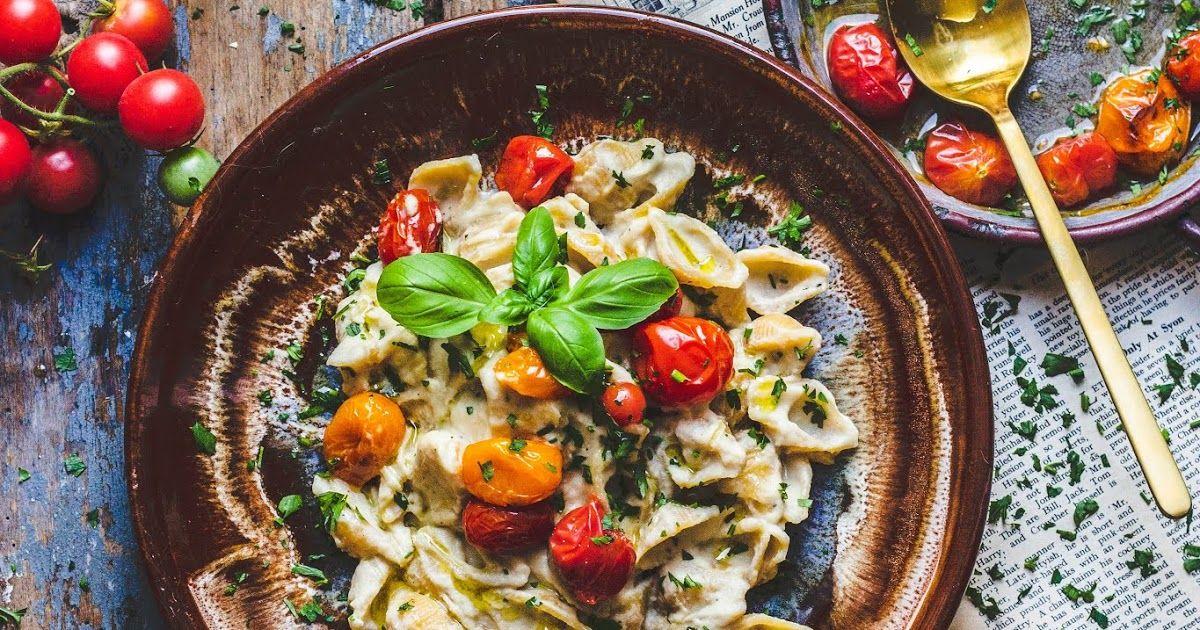 Wegan Nerd Kuchnia Roslinna Makaron W Sosie Kalafiorowym Z Pieczonymi Pomidorami
