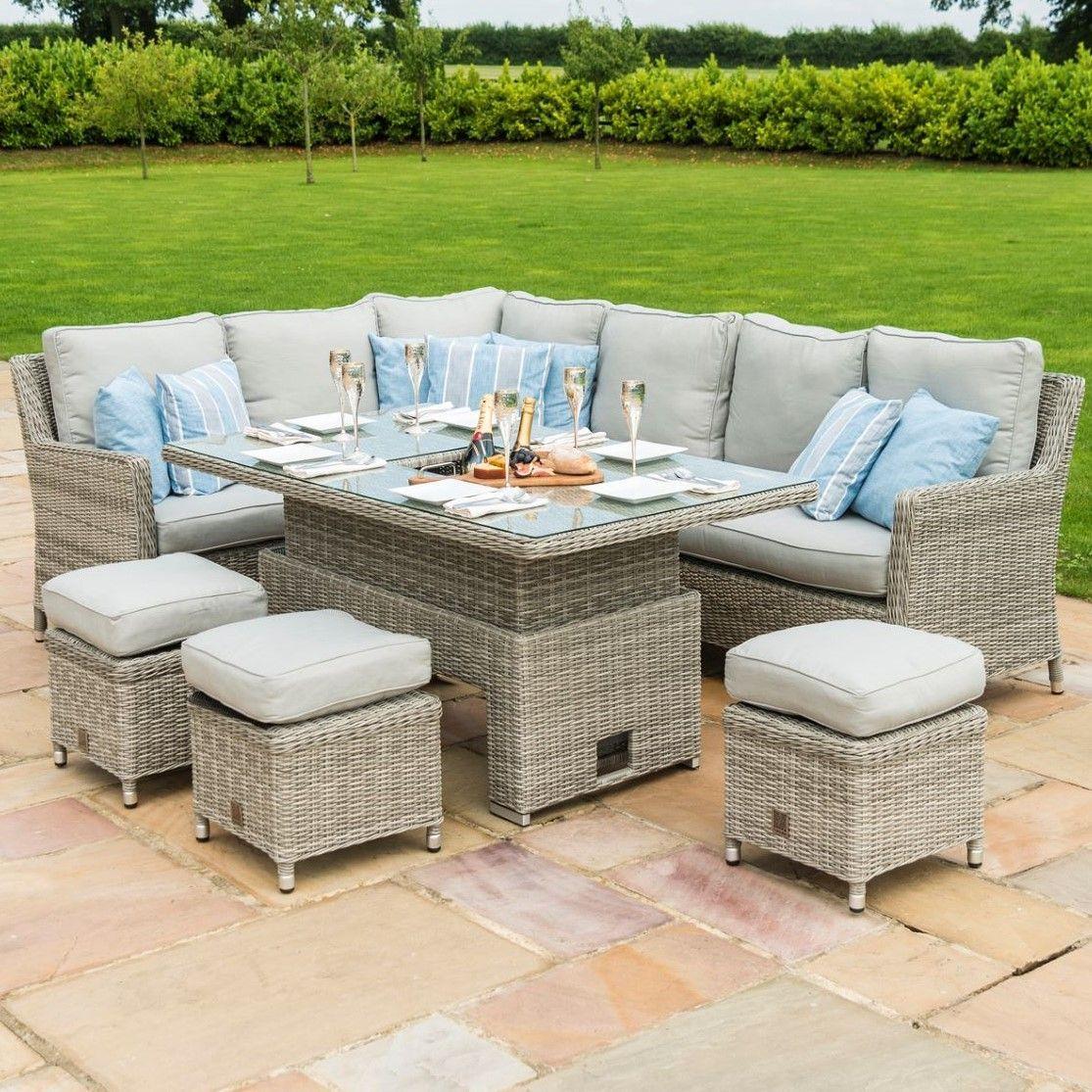 Maze Rattan Garden Furniture Oxford Corner Ice Bucket Set with