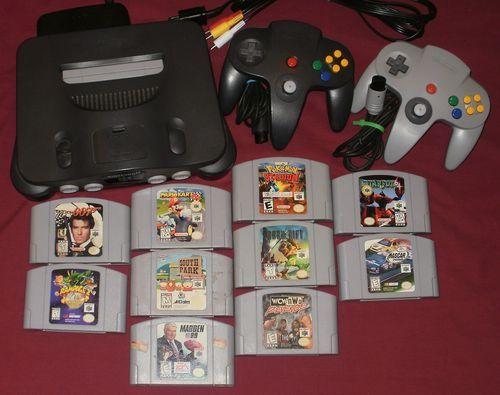 Nintendo 64 N64 Bundle 10 Game Lot Mario Kart 007 GoldenEye