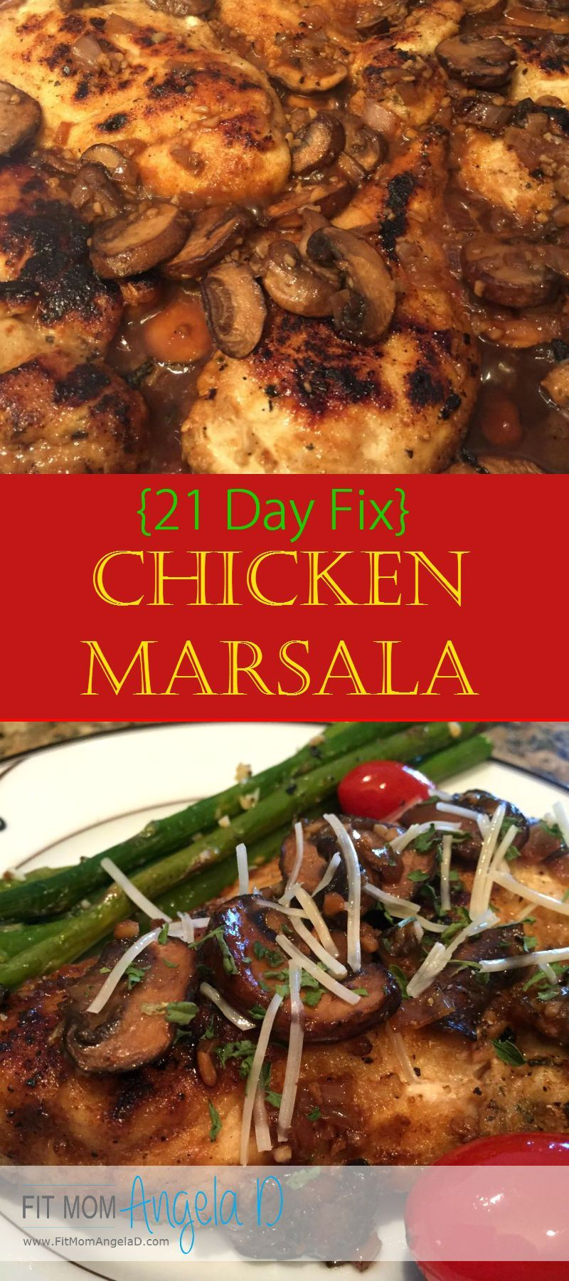21 Day Fix Chicken Marsala Day Fix Chicken Marsala   This meal was SO good - my husband and I both loved it and my house smelled AMAZING!   Healthy Dinner   Clean Eats   21 Day Fix Approved  