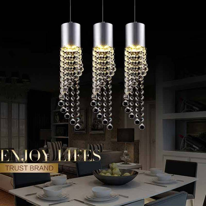 Modern Crystal Pendant Light 5w Led Dinning Room Lights Nordic Crystal Hanging Light F In 2021 Rope Light Fixture Crystal Pendant Lighting Pendant Lighting Dining Room