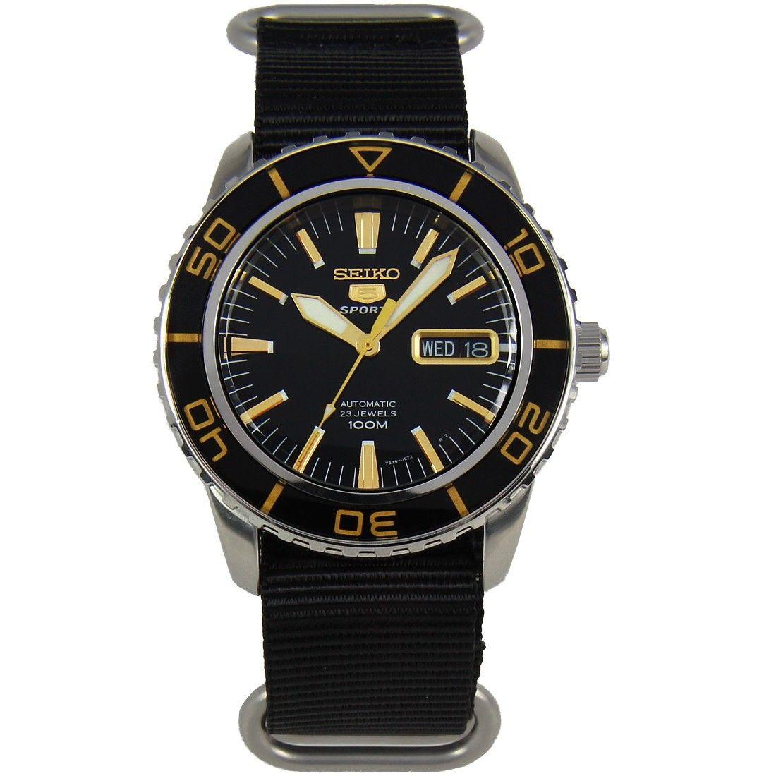 SNZH57K1 Seiko 5 Sports Automatic Watch w/ add'l strap in