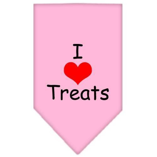 I Heart Treats Screen Print Bandana Light Pink Small
