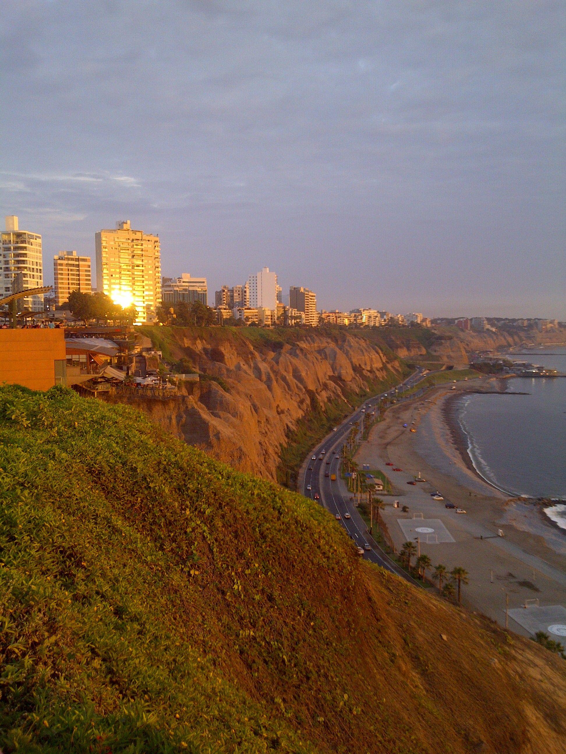 Sunset Costa Verde Miraflores Lima Peru Viajes Costa Paisajes