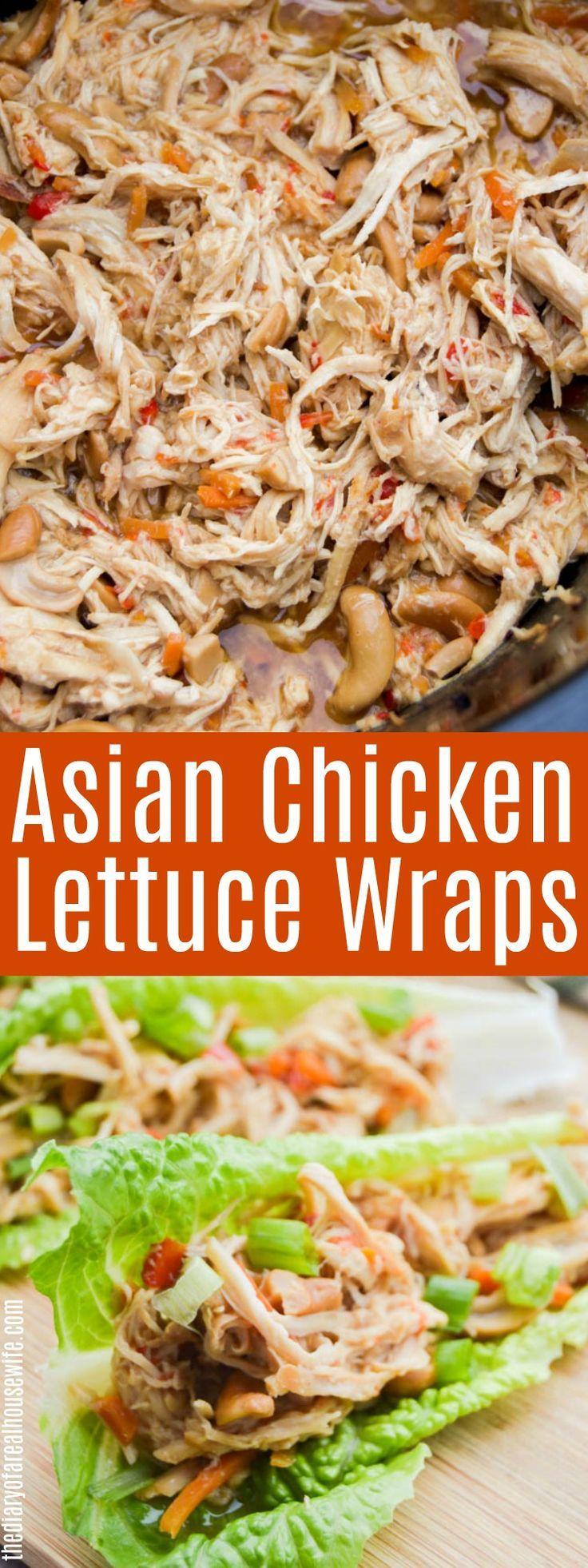 OH MON DIEU! Ce sont tellement bons !! Wraps de laitue au poulet asiatique à la mijoteuse. #slowcooker #chicken #asianchicken