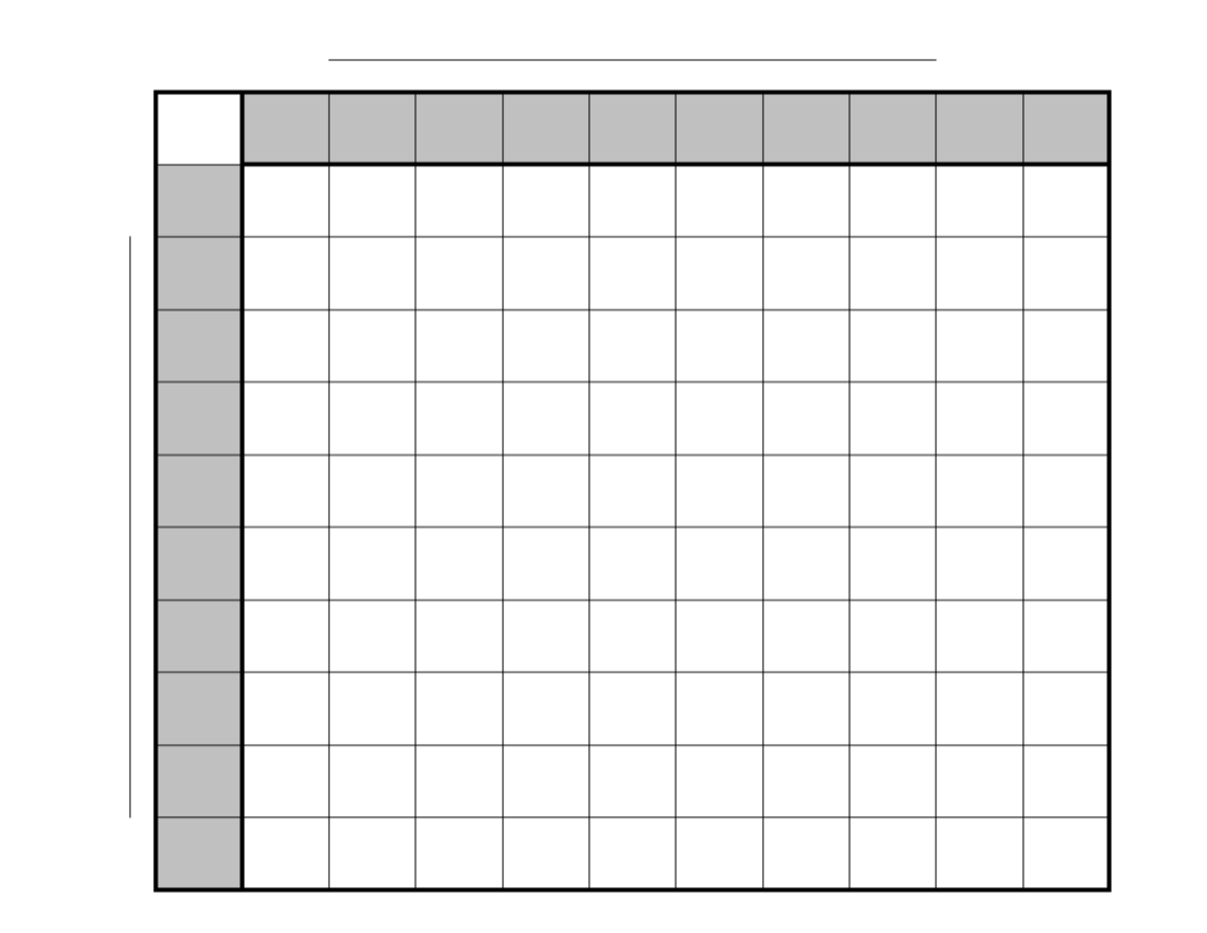 printable grid prepare your numbers by writing the numbers 1