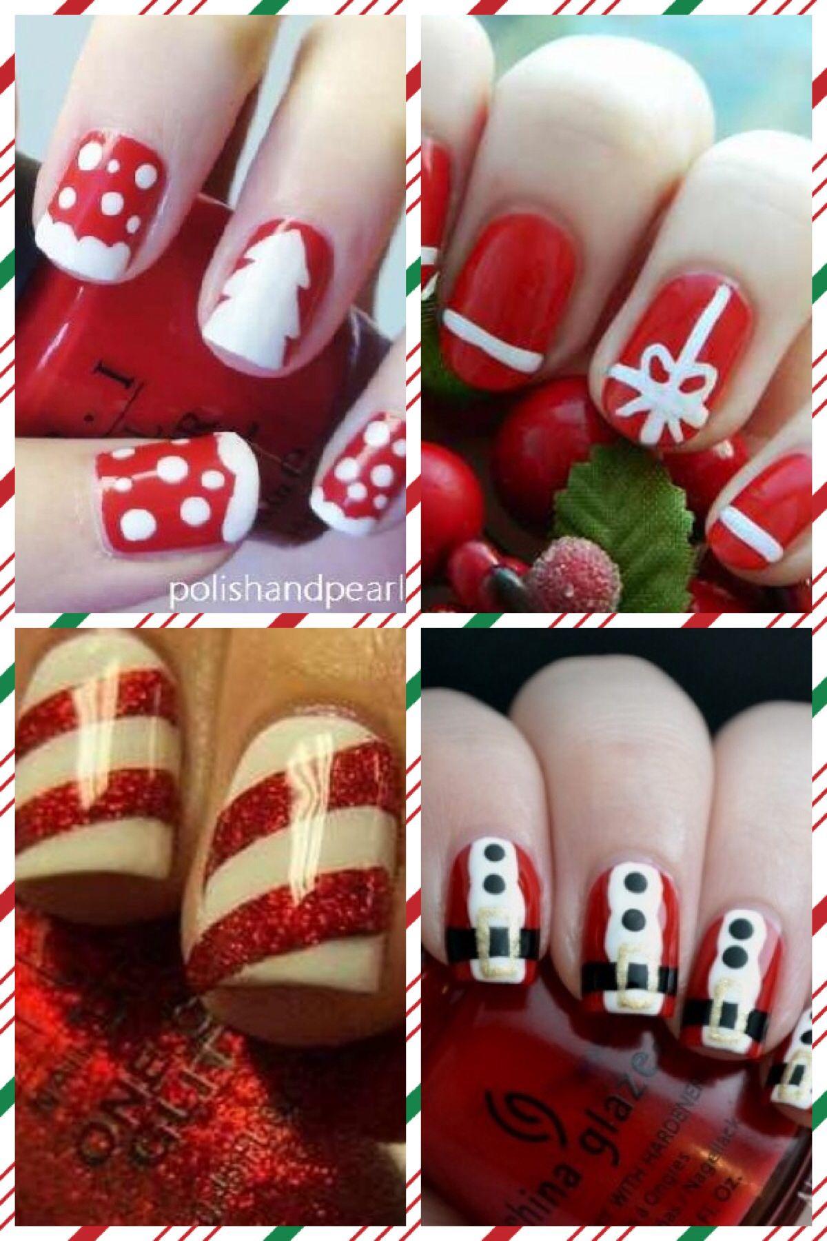 Christmas themed nail designs