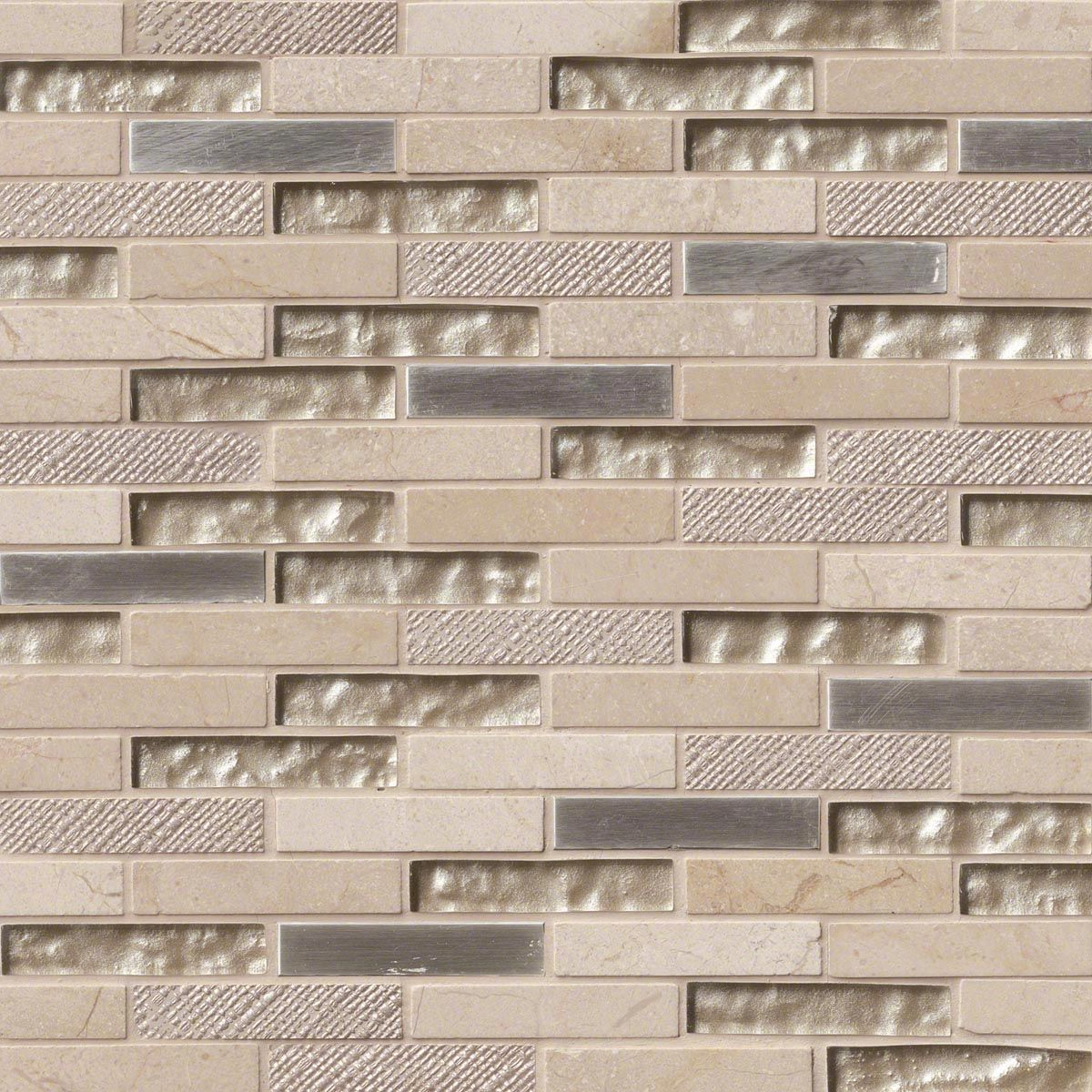 Glass stone mosaic kitchen backsplash photo marazzi pictures to pin on - Vienna Blend Brick 0 625x3x8 Mm Glass And Stone Mosaic Backsplash Tile