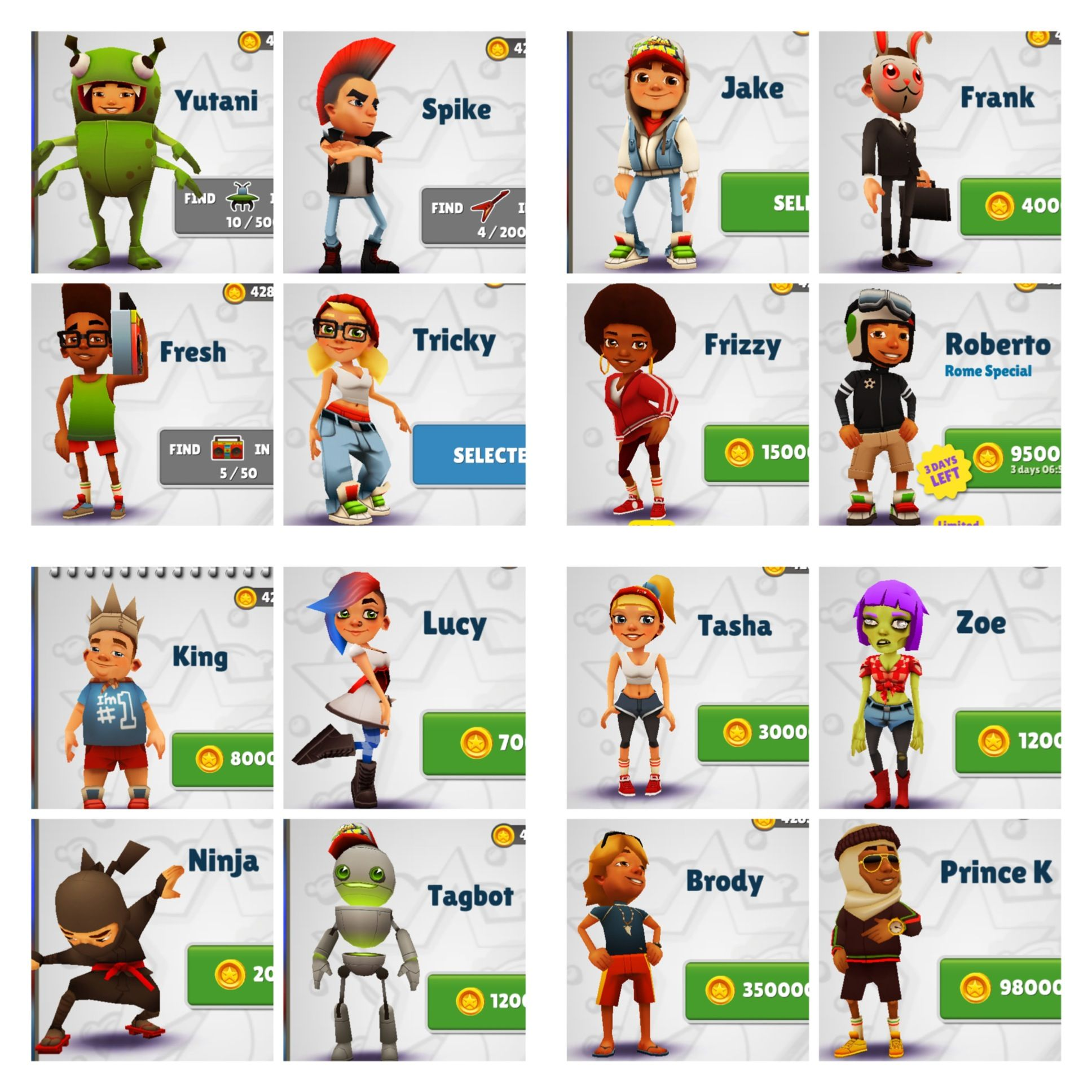 How To Get All The Characters In Subway Surfers