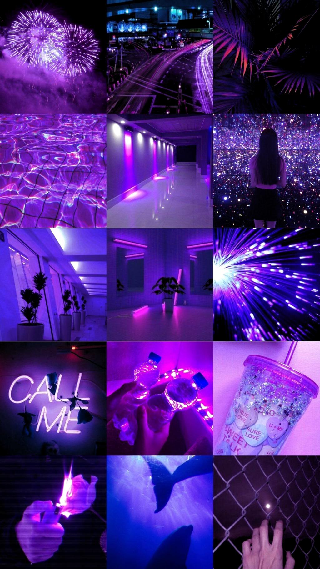 11+ Dark Iphone Neon Dark Iphone Purple Aesthetic Wallpaper Pictures
