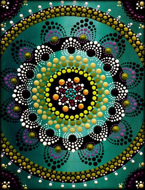 dot painting flower abstract mandala beginners easy lotus mandalas flowers rocks canvas draw designs dots painted pattern freejupiter stone etsy