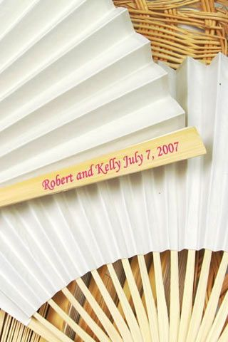 Personalised Wedding Fans Bridesmagazine Co Uk