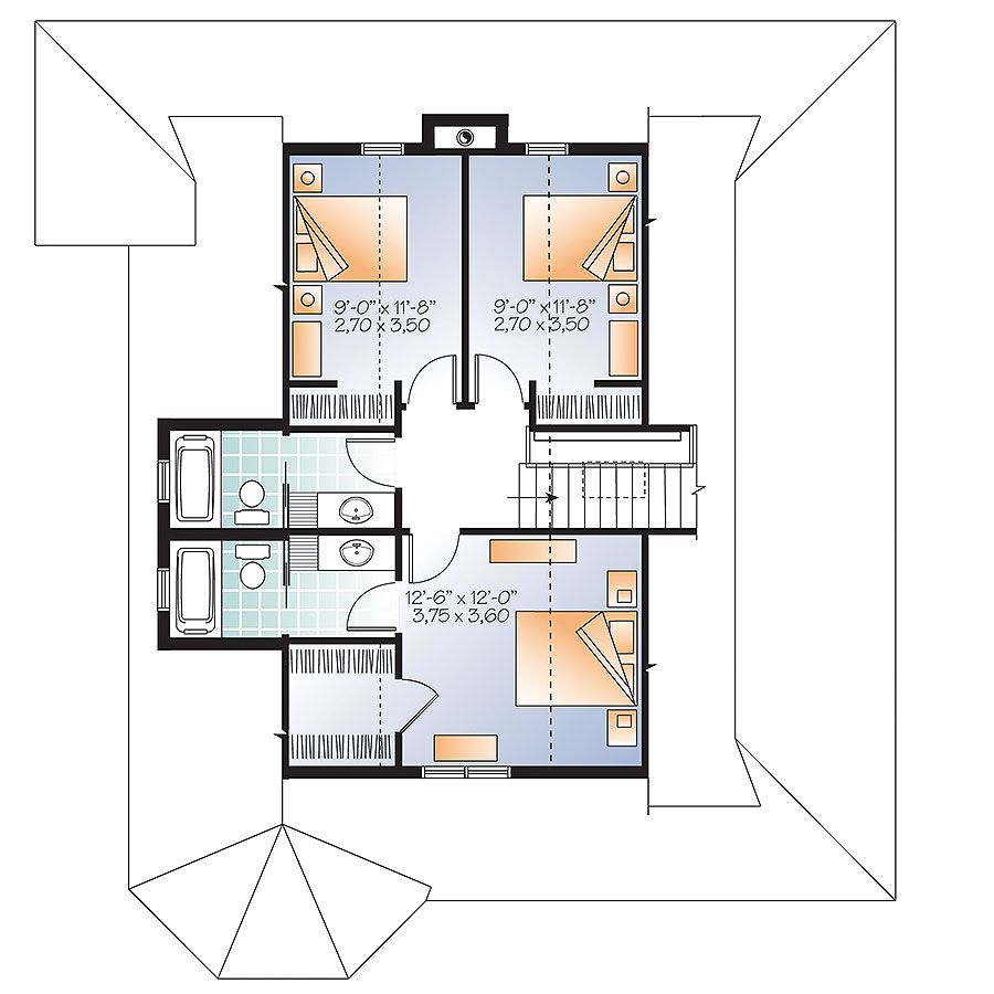 4 Bedroom Country House Plan with Wrap-Around Porch - 22428DR ...