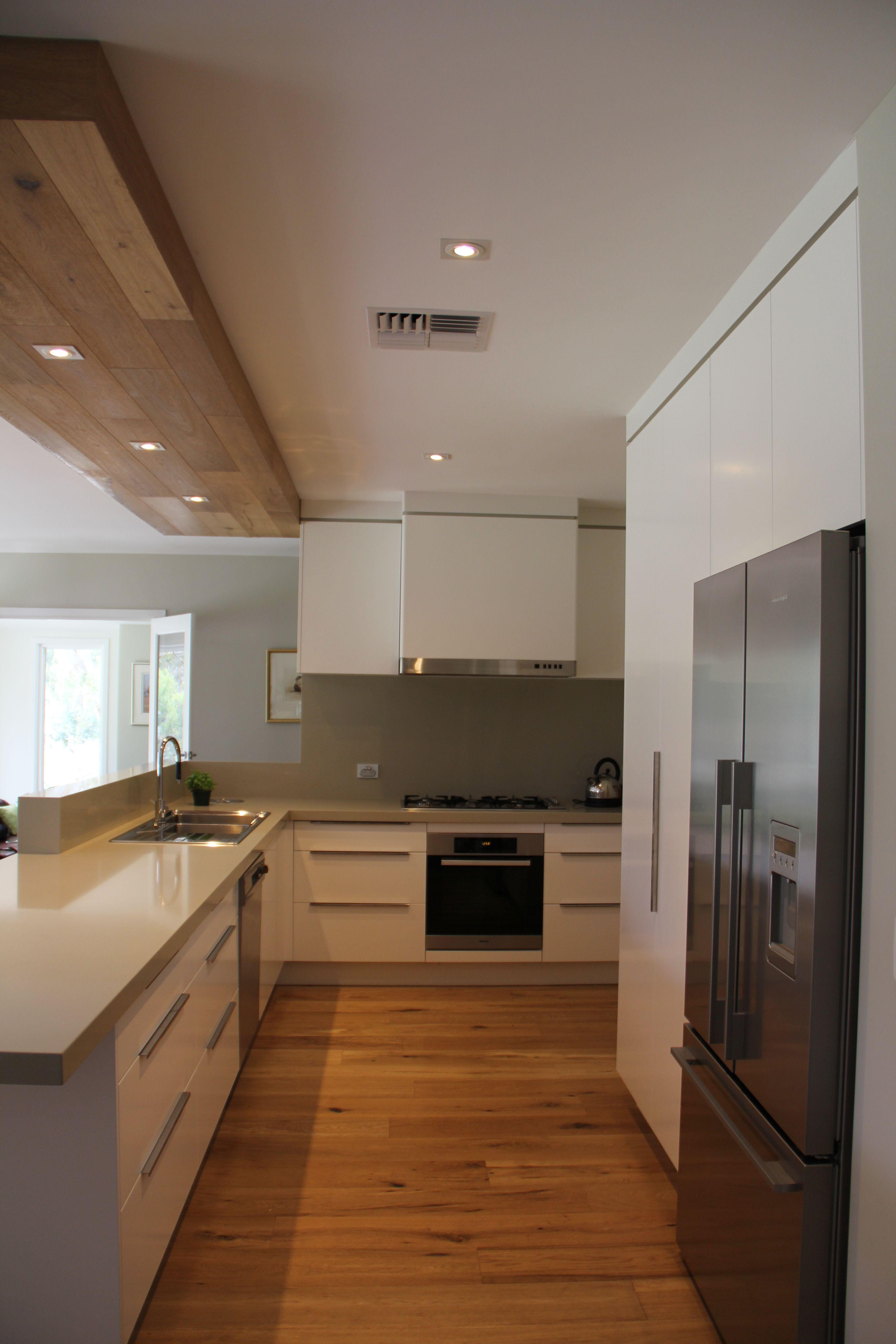 Smoked American Oak Floors And Bulkhead Design By Plumb Interior Design