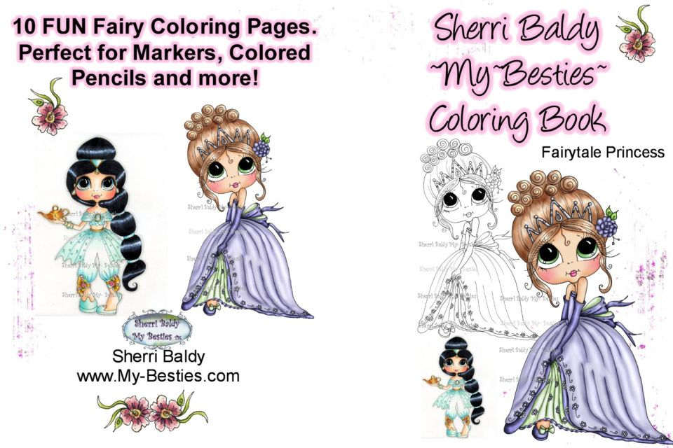 Signed Coloring Book Pages Packet 8 1 2 X 11 Fairytale Princess 10