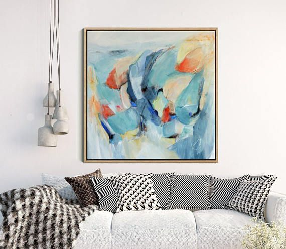 Large wall art abstract print modern giclee by artzaro also mixed media decor  time to explore lll rh pinterest