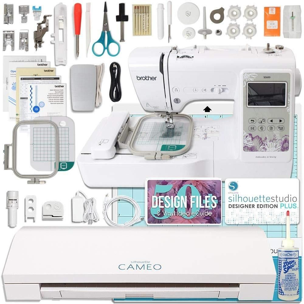 Silhouette Cameo 3 and Brother Embroidery Machine Bundle