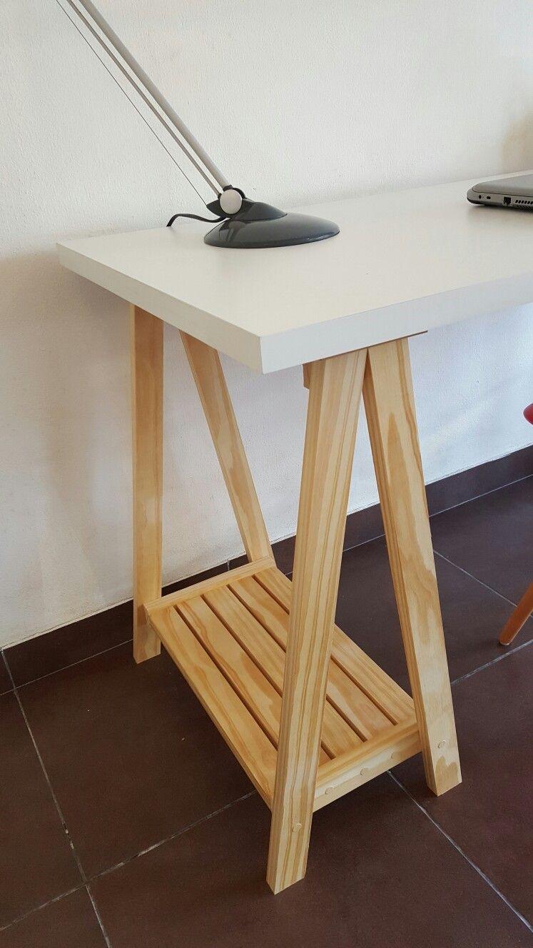 escritorio caballetes melamnico trio diseo en madera