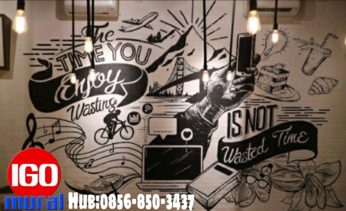 Promo Wa 0856 850 3437 Lukisan Cafe Hitam Putih Lukisan