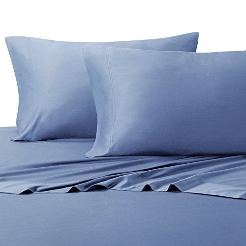 Luxury Solid 600 Thread Count Twin Extra Long Size 3pc Bed Sheet Set ,Deep  Pocket