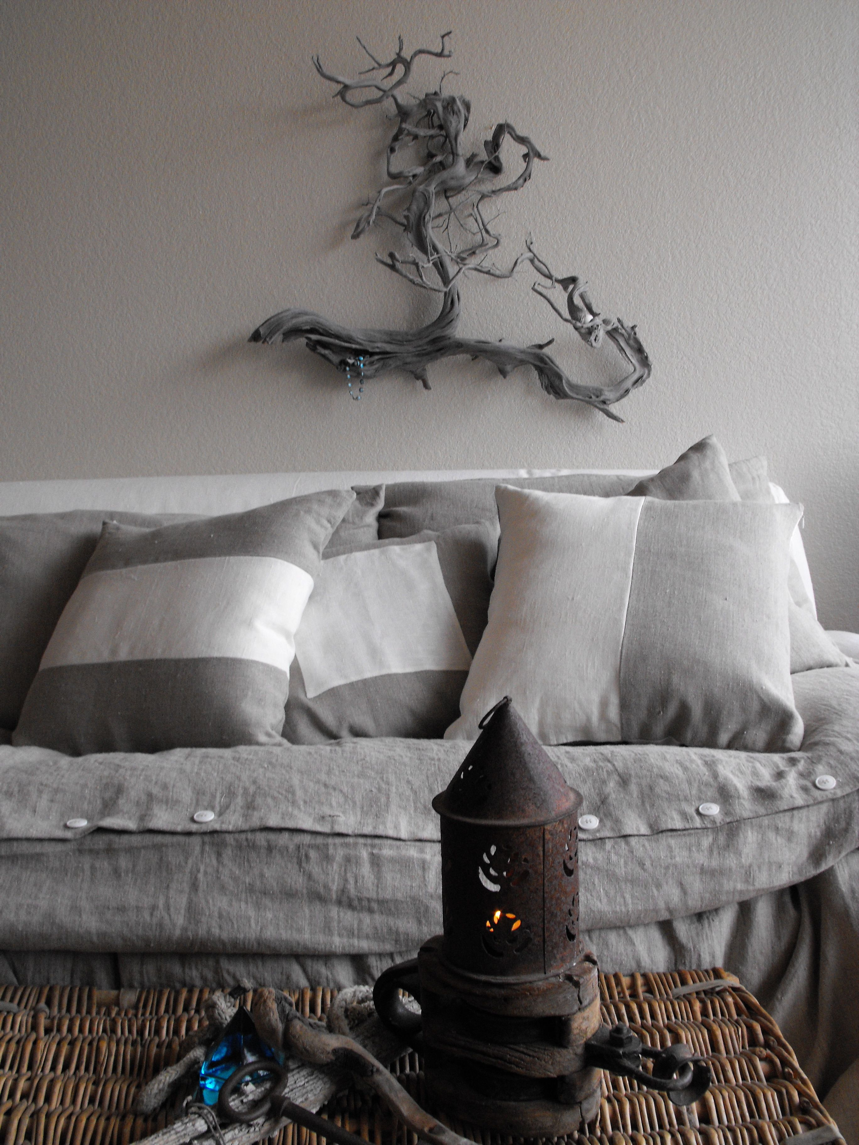 Orkney Cushions By Tricia Rose Of Rough Linen White To