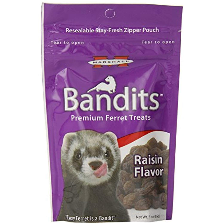 Marshall bandits ferret treat 3ounce raisin see