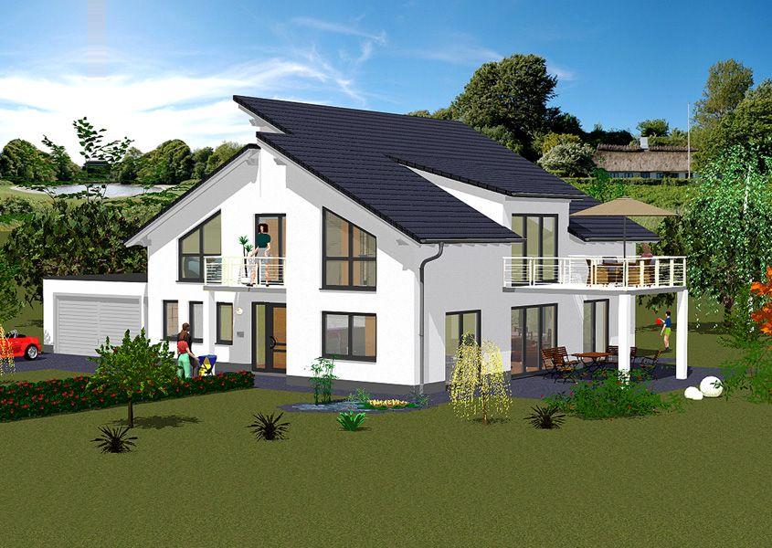 Pultdachhaus vorderansicht modernes wohnen mit pultdach for Hauser plane einfamilienhaus